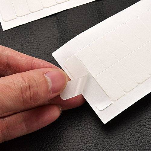 TecUnite 180 Pieces Hair Extension Tape Tabs Double Sided Extension Tapes for Replacement, 4 x 0.8 cm (White)