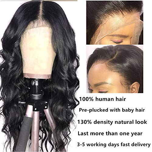 Lace Frontal Wigs Human Hair Body Wave Wig Pre Plucked Lace Front Wigs Human Hair with Baby Hair Remy Hair Wigs Brazilian Virgin Hair Lace Wigs for Women Body Wave Free Part Wigs 8A Grade Virgin Hair