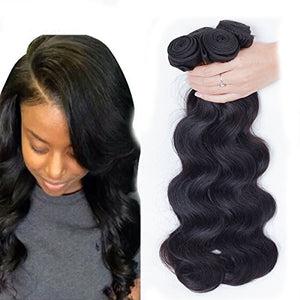 Dream Show Brazilian Human Hair Body Wave 100% Hair Extensions Weft Weave Natural Color 1 Bundles/lot, 100g Total Grade 7A (16')