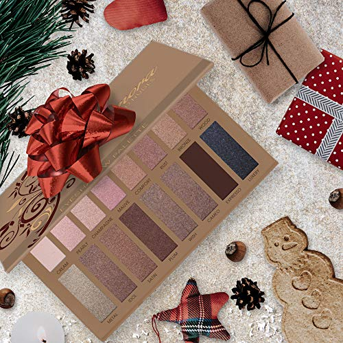 Best Pro Eyeshadow Palette Makeup - Matte Shimmer 16 Colors - Highly Pigmented - Professional Nudes Warm Natural Bronze Neutral Smoky Cosmetic Eye Shadows