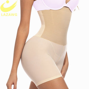 LAZAWG Women Tummy Control Panties High Waist Body Shaper Seamless Boyshorts Slimming Shapewear Waist Trainer Sexy Butt Lifter