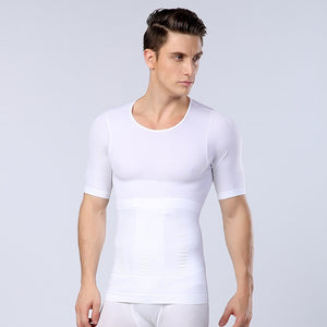 Men Slimming Body Shaper Belly Control Shapewear Modeling Underwear Waist Trainer Corrective Posture tshirt Corset sweat shirt