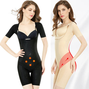 Wechery Women's Binders and Shapers Full Length Bodysuit Female Slimming Shaper 3XL Plus Size Girdle Sexy Floral Shapewear