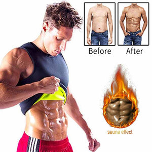 Neoprene Abdomen Fat Burning Shapewear Men Slimming Body Shaper Sauna Vest Weight Loss Waist Trainer Corrective Posture Corset