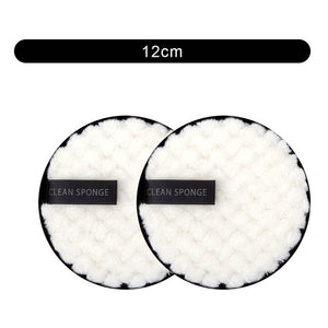 1/2pcs Makeup Remover Cloth Washable Cleansing Cotton Reusable Microfiber Pads Skincare Make-up Removal Reusable Face Pads Tool
