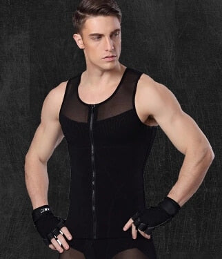 Ultra Lift Body Slimming Shaper Men Vest Compression Leotard Shapewear Girdle Posture Corrector Back Belly Shirt Gynecomastia