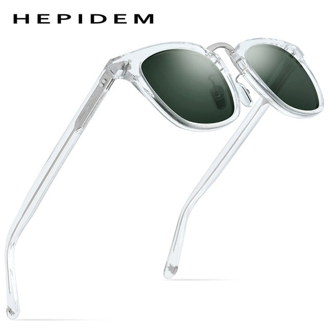 HEPIDEM Acetate Polarized Sunglasses 2020 New Women High Quality Sunglass Retro Vintage Square UV400 Sun Glasses for Men 9126