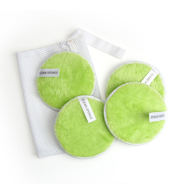 4/5PCS Reusable Makeup Remover Discs Face Makeup Eraser Cotton Pads Soft Microfiber Makeup Remover Cloth Facial Skincare Tools