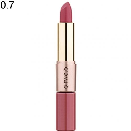 O.TWO.O 12 Colors Lips 2 in 1 Matte Lipstick Lip Gloss Waterproof Long Lasting Non-sticky Makeup Matte Lipstick Moisture Makeup