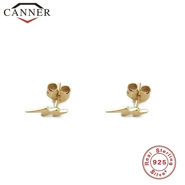 925 Sterling Silver Stud Earrings for Women Simple Smooth lightning/snake/Butterfly Earrings Female Fashion Minimalist Jewelry