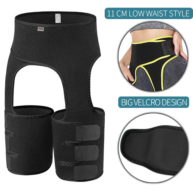 Slim Thigh Trimmer Leg Shapers Slender Waist Trainer Sweat Shapewear Neoprene Body Shaper Fat Burning Toned Muscles Band Slimmer