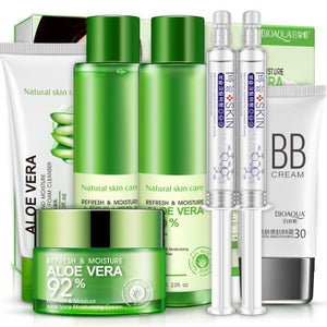Bioaqua Aloe Vera Refreshing Set of 7 Gift Boxes Facial Applying Water Lightening Moisturizing Skincare Set