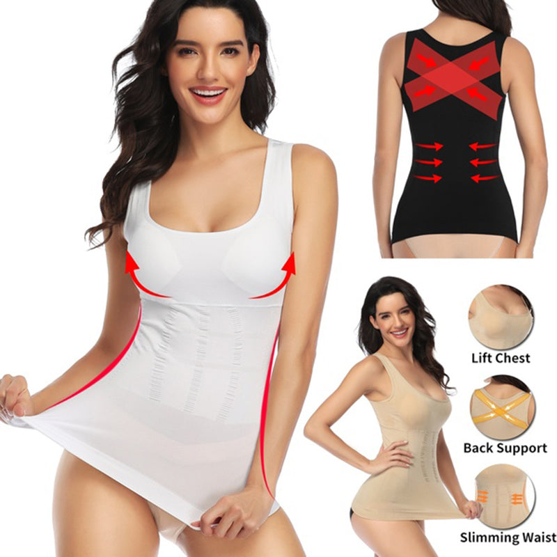 Women Magic Shapewear Bra Body Shaper Tank Top Slimming Underwear Camisole Compression Shirt Corset Tummy Control Waist Shaper