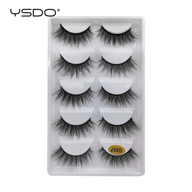 YSDO wholesale 10-100 boxes mink eyelashes natural volume 3d mink lashes bulk makeup fluffy false eyelashes maquillaje faux cils