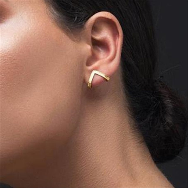2020 New Fashion Round Dangle Drop Korean Earrings For Women Geometric Round Heart Gold Earring Wedding Jewelry 8g