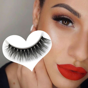 5 Pairs Thick Cross 100% Mink False Eyelashes 3D Makeup H13 mink eyelashes