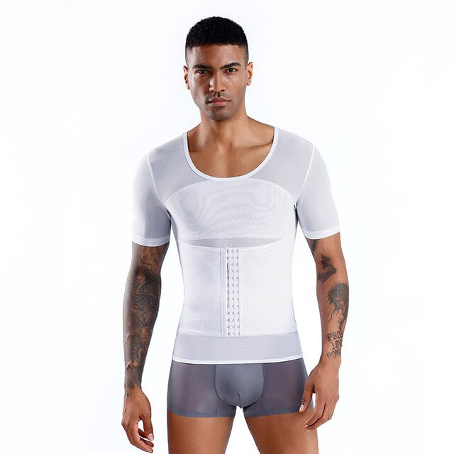 Adjustable Body Shaper Men Waist Trainer Gynecomastia Control Shapewear Tummy Slimming Corset Man Corsets Belly Shapers