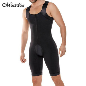 Minxilim Mens Butt lifting Plus Size Body Shaping Control Slim Corset Shapewear Bodysuit Body Shaper Body Pants Waist Trainer