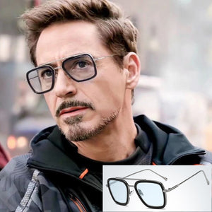 NODARE 2020 Fashion Avengers Tony Stark Flight 006 Style Sunglasses Men Square Brand Design Sun Glasses Oculos De Sol 66218