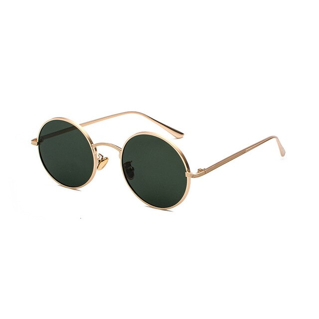 Elbru Retro Round Steampunk Style Sunglasses Women Men Fashion Colorful Lens Sun Glasses Male Vintage Metal Frame Round Oculos