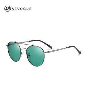 AEVOGUE New Men Women Metal Classic Polarized Sunglasses Round Retro Fashion Sun Glasses Brand Designer UV400 AE0825
