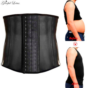 Men Modeling Strap Slimming Belt Body Shaper Reducing Strap Male Latex Waist Trainer Abdomen Binder Corset Steel Boned Shapewear