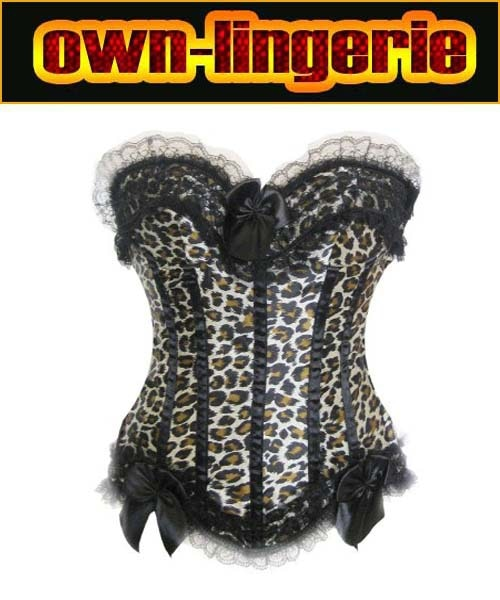 Free shipping sexy leopard pattern sexy fashion corset,plus size xxxxxxl corset shapewear for big women lace up back