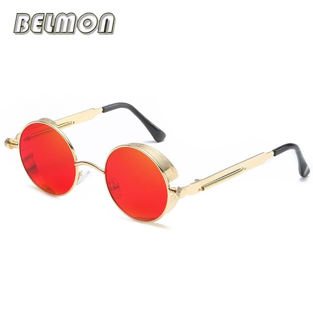 Steampunk Goggles Sunglasses Men Women Luxury Brand Round Sun Glasses For Ladies Retro Circle Vintage Male Female  RS291