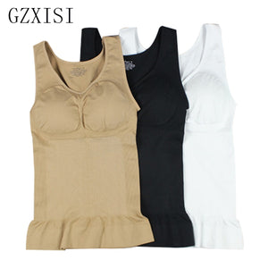 GZXISI Women Wireless Cami Tank Top Slim Body Shaper Bra Vest Camisole Removable Pads Slimming Shapewear Waist Trainer Corset