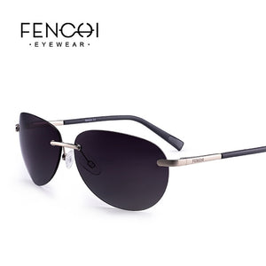 FENCHI Sunglasses Polarized Retro Rimless Driving Vintage Fashion Sunglasses Men Women High Quality Goggle