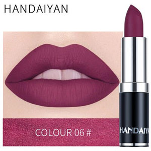 1pcs Sexy Matte Lipstick Lips Color Cosmetics Waterproof Long Lasting Natural Lipsticks for Women Lip Beauty Makeup 12 Color