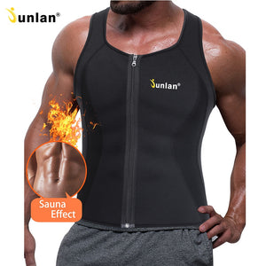 Junlan Men Sauna Vest Neoprene Slim Waist Trainer Male Body Control Shaper for Workout Weight Loss Corset Shapewear Strap