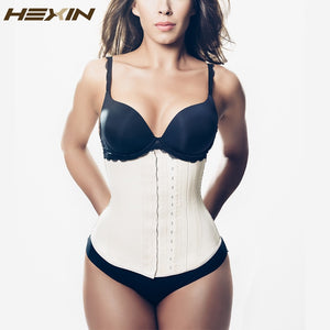 HEXIN 9 Steel Boned 3 Layer Summer Latex Waist Trainer Underbust Shapers Sexy Waist Cincher Shapewear Fajas