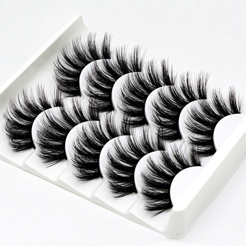 DOCOCER  NEW 13 Styles 5 Pairs Mink Hair False Eyelashes Natural/Thick Long Eye Lashes Wispy Makeup Beauty Extension Tools