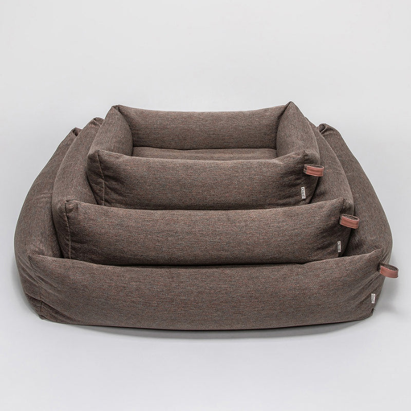 Cloud7 hundeseng Sleepy Herringbone Brown