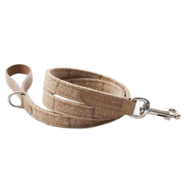 ;Mutts & Hounds hundesnor, Oatmeal tweed/leather;Mutts & Hounds hundesnor, Oatmeal tweed/leather; (4627043778693)