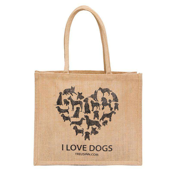 Treusinn Shopper Jute I love dogs - Luksushund