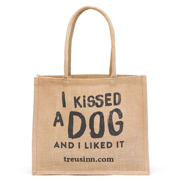 Treusinn Shopper Jute I kissed a dog - Luksushund