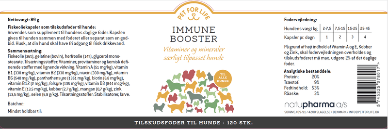 Pet for Life - Immune Booster fodertilskud