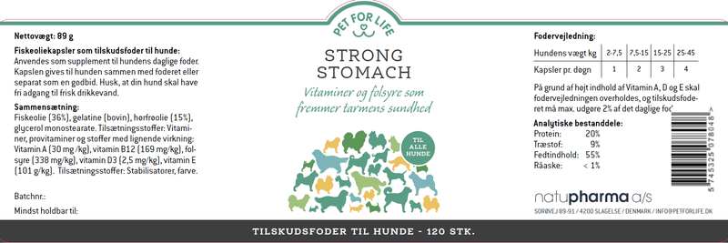 Pet for Life - Strong Stomach fodertilskud