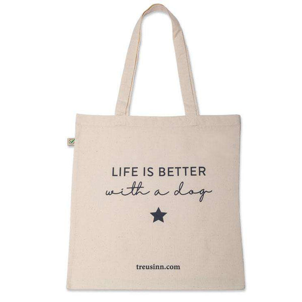 Treusinn Shopper Canvas Life is better - Luksushund
