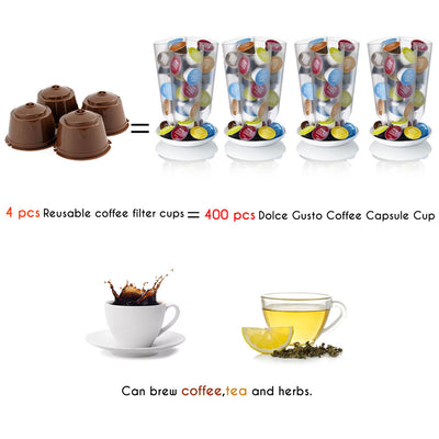 1/2/3pcs/lot Refillable Dolce Gusto Reusable Capsules Coffee Capsules Plastic Compatible with Nescafe Genio, Piccolo, Esperta