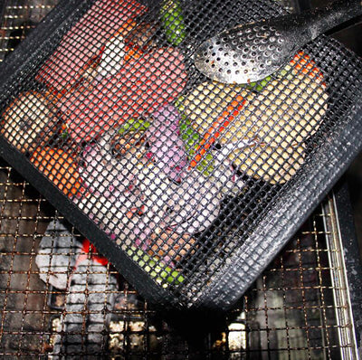 Non-stick Mesh Grilling Bag Reusable BBQ Fruit And Vegetable Meat Storage Bag Barbecue Heat Resistant Bags