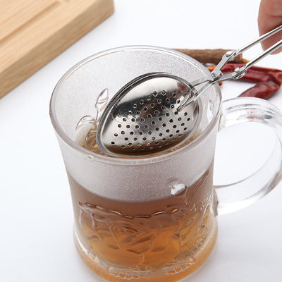 1pc Stainless Steel Line Handle tea strainer Tea Ball Bulk Tea Filter Drip Handle Seasoning Hot Pot Ball Infuser kitchen tools