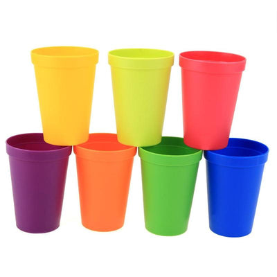 7Pcs/lot 7 Color Portable Rainbow Suit Cup Picnic Tourism Plastic Cup Coffee Household Cups Color Random