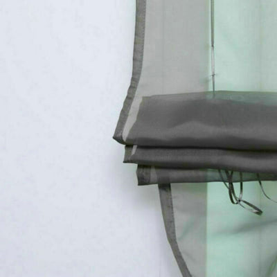 Liftable Voile Sheer Roman Curtain 140*155 cm