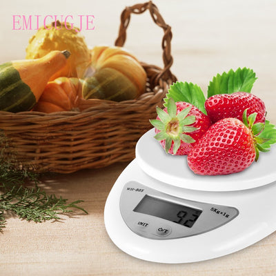 5KG/1G Backlight Digital Kitchen Food Diet Weight Postal Balance  High Precisio Electronic Scales Portable Hook Scales Kg