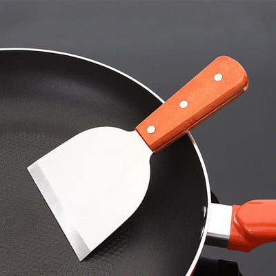 Fried Non-stick Gadgets Cookware Baking BBQ Stainless Steel Kitchen Steak Shovel Griddle Handle Scraper Cooking Tool Pasta