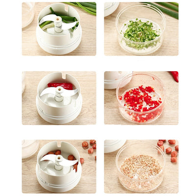 Mini stainless steel garlic press Portable manual chopper multi-function chopping machine garlic kitchen