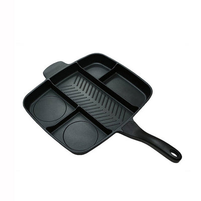 Frying Pan 5 in 1 Magic Grill Pan Master Pan Non-Stick Divided Grill Pan Fry Oven Skillet Cookware Kitchen Accessories